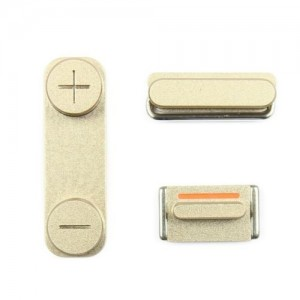Boutons volume vibreur power Or iPhone 5S