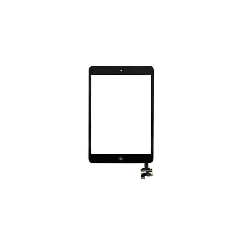 Vitre Tactile pour iPad Mini et Mini 2 Noir Pré Assemblée