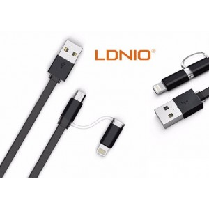 Câble 2 en 1 (Lighting+Micro-USB) LDNIO LC84 Noir 1m