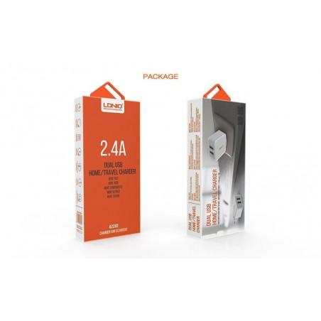 Chargeur Secteur 2 Ports USB LDNIO A2202 2.4A