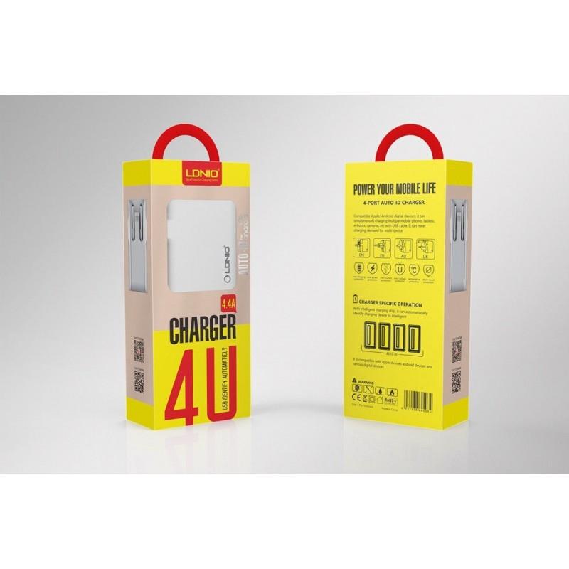 Chargeur Secteur 4 Ports USB LDNIO A4403 4.4A