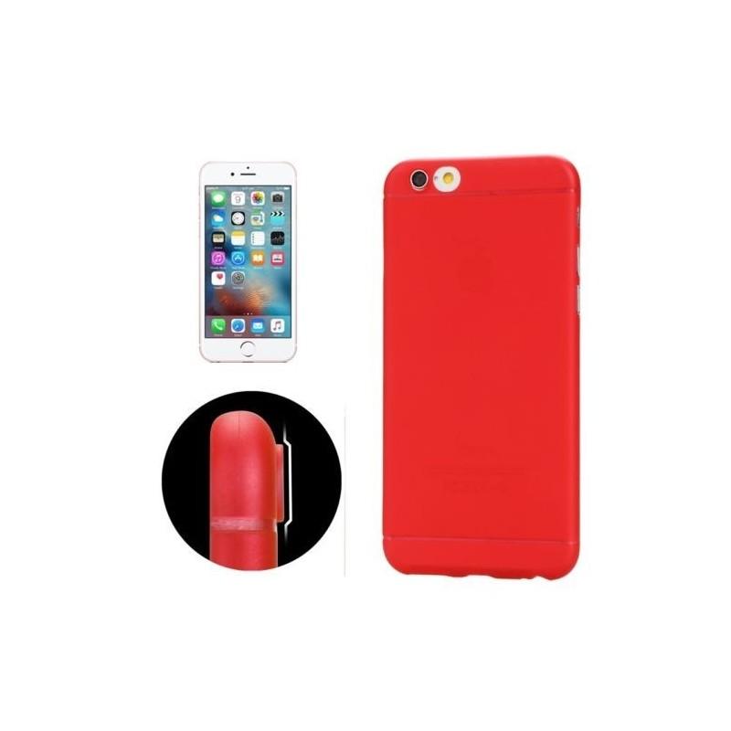 Coque Ultra Slim Translucide pour iPhone 6/6S Rouge