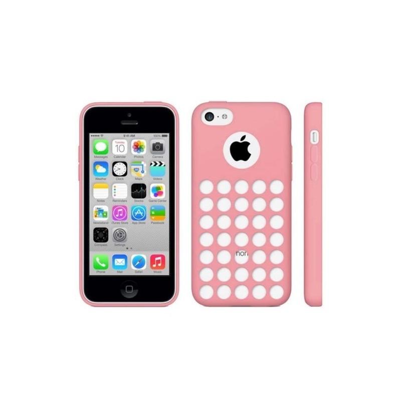 Coque motif à trou en Silicone Gel (TPU) pour iPhone 5C Rose