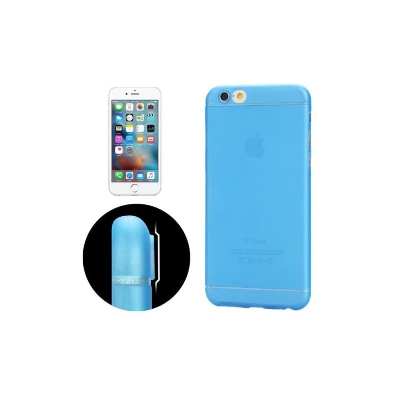 Coque Ultra Slim Translucide pour iPhone 6/6S Bleu