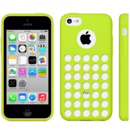 Coque motif à trou en Silicone Gel (TPU) pour iPhone 5C Vert