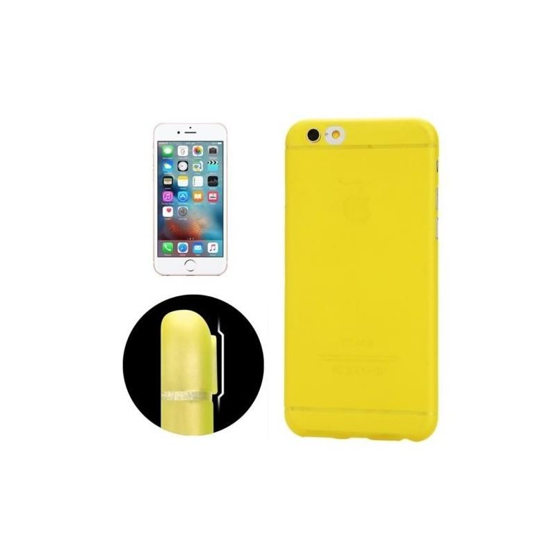 Coque Ultra Slim Translucide pour iPhone 6/6S Jaune