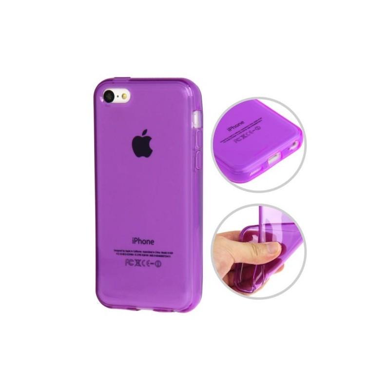 Coque lisse en Silicone Gel (TPU) pour iPhone 5C Violet