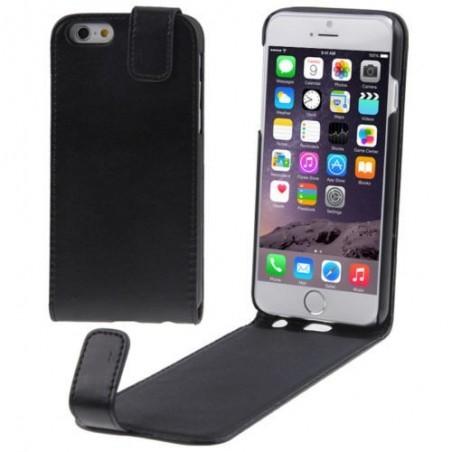 Etue à Clapet Vertical pour iPhone 6/6S Plus Noir