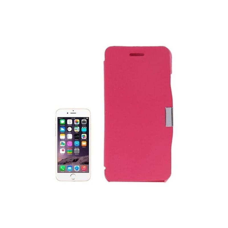 Étui à Clapet Horizontal magnétique pour iPhone 6/6S Magenta