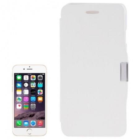Étui à Clapet Horizontal magnétique pour iPhone 6/6S Plus Blanc