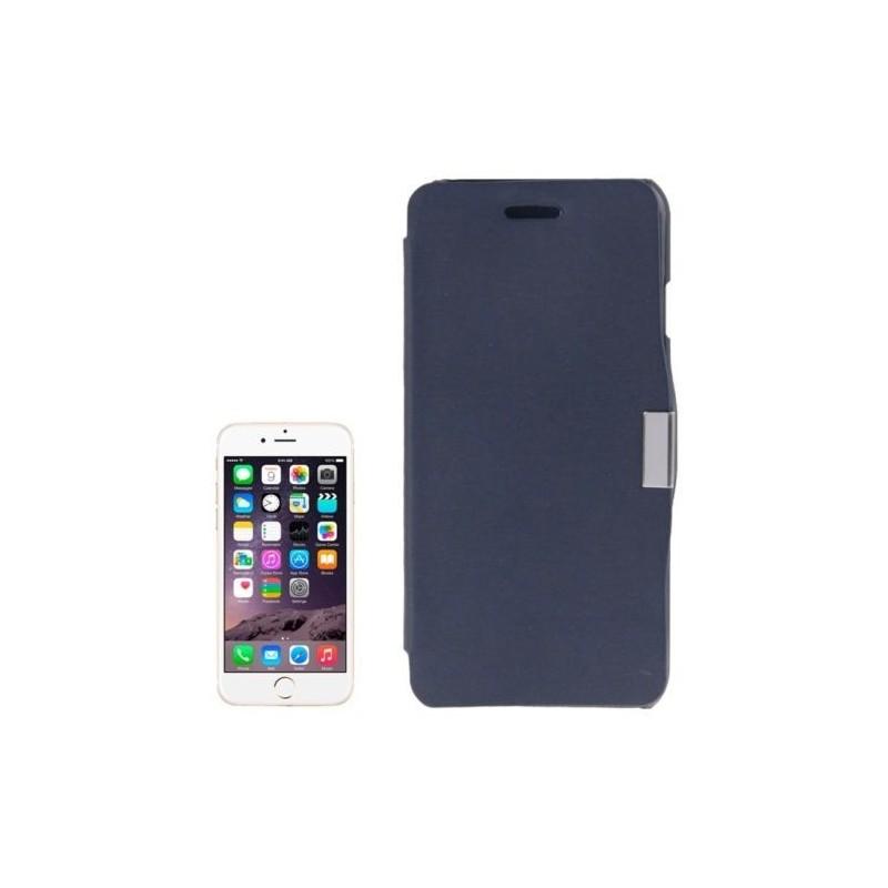 Étui à Clapet Horizontal magnétique pour iPhone 6/6S Plus Bleu Foncé