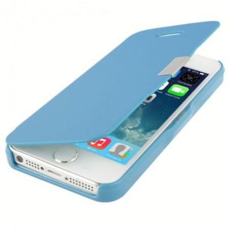 Etui Magnétique pour iPhone 5 Bleu