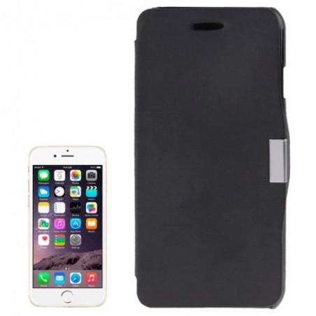 Étui à Clapet Horizontal magnétique pour iPhone 6/6S Noir