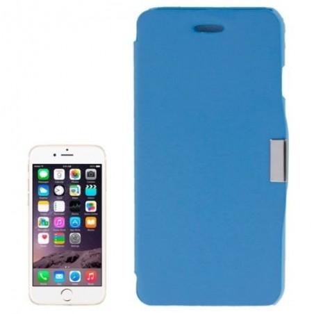 Étui à Clapet Horizontal magnétique pour iPhone 6/6S Plus Bleu