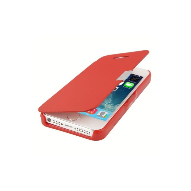 Etui Magnétique pour iPhone 5 Rouge