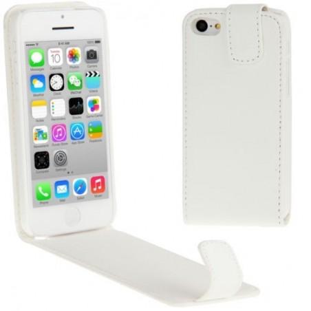 Etui à Clapet Ultra-Fin pour iPhone 5C Blanc