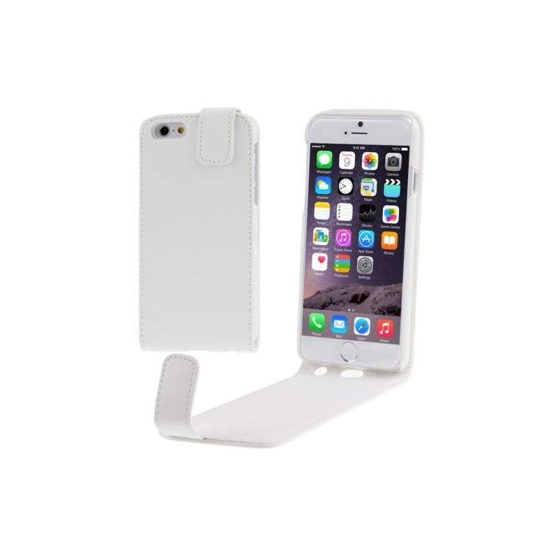 Étui à Clapet Vertical pour iPhone 6/6S Plus Blanc