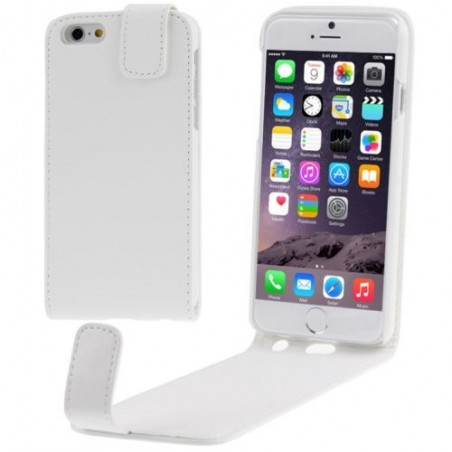Étui à Clapet Vertical pour iPhone 6/6S Plus Blanc