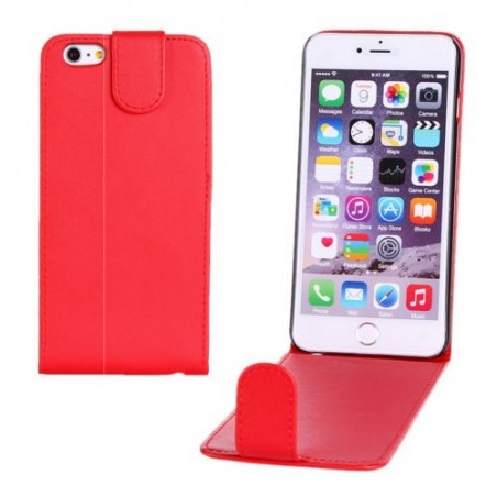 Étui à Clapet Vertical pour iPhone 6/6S Plus Rouge