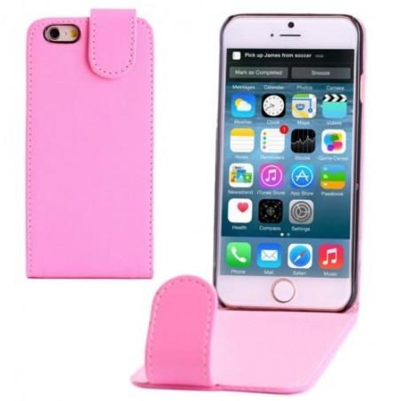 Étui à Clapet Vertical magnétique pour iPhone 6/6S Rose