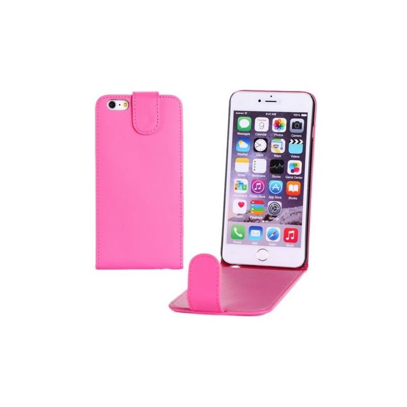 Étui à Clapet Vertical pour iPhone 6/6S Plus Magenta