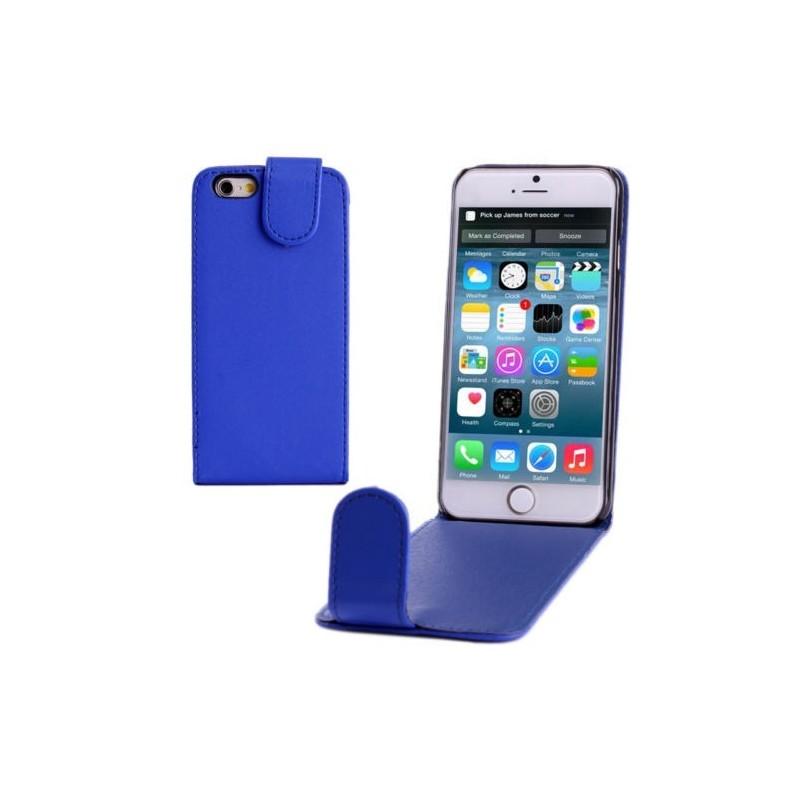 Étui à Clapet Vertical magnétique pour iPhone 6/6S Bleu