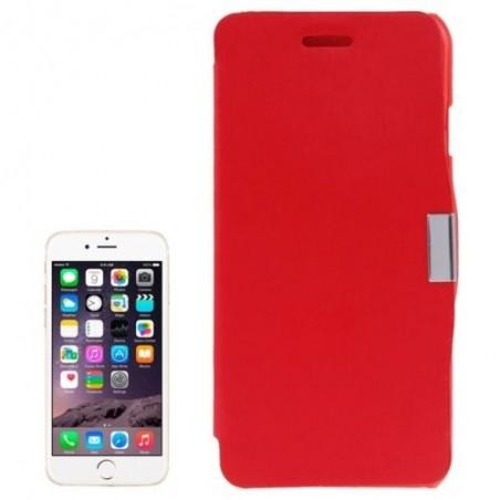 Étui à Clapet Horizontal magnétique pour iPhone 6/6S Plus Rouge