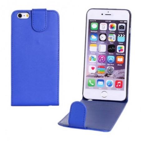 Étui à Clapet Vertical pour iPhone 6/6S Plus Bleu