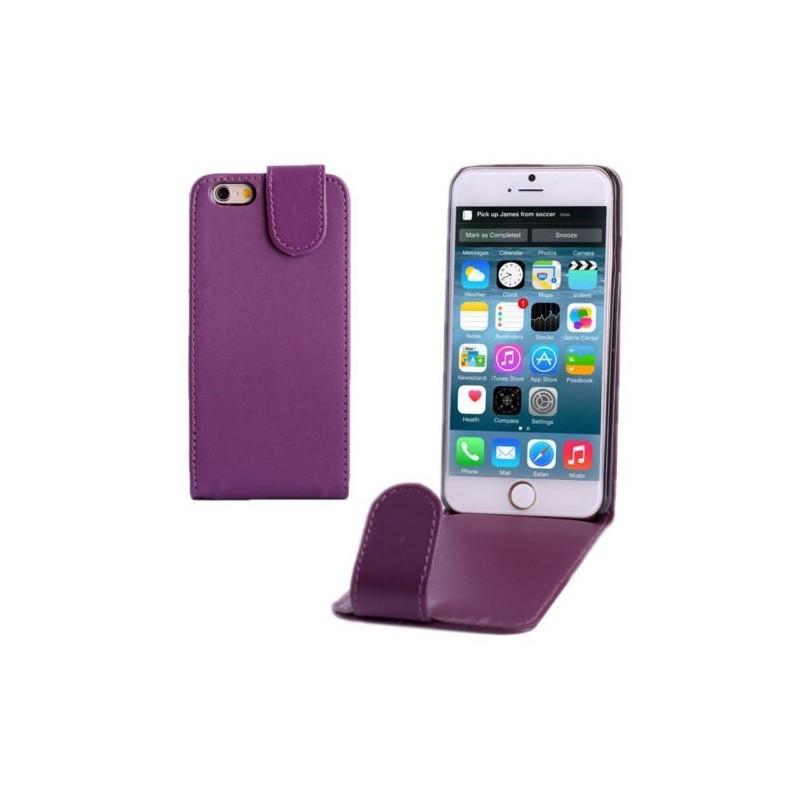 Étui à Clapet Vertical magnétique pour iPhone 6/6S Violet