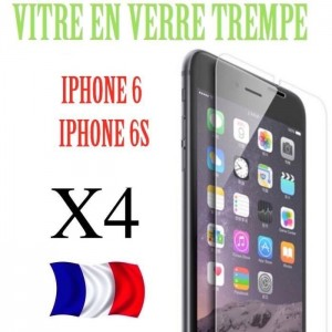 4 Verres Trempé Iphone 6-6s-7