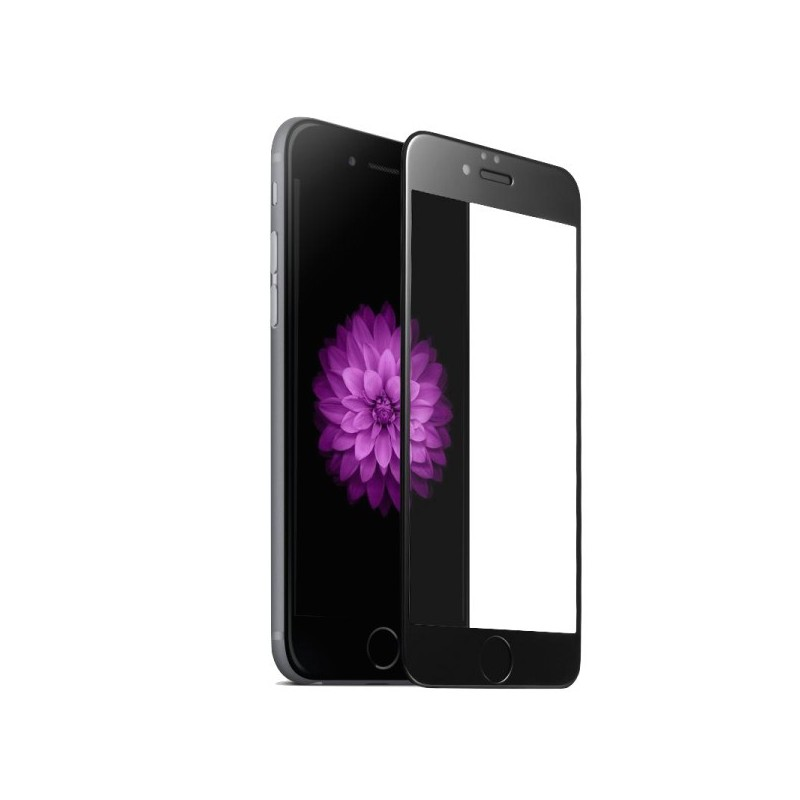 1 Verre Trempé iPhone 6 Plus-6s Plus NOIR 3D-4D-5D