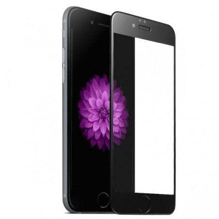 1 Verre Trempé iPhone 6 Plus et 6s Plus Noir 4D