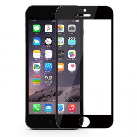 1 Verre Trempé iPhone 6-6s-7 Noir