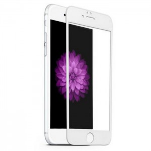 1 VERRE TREMPE IPHONE 6-6s 3D BLANC