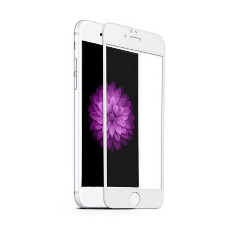 1 VERRE TREMPE IPHONE 6-6s 3D BLANC