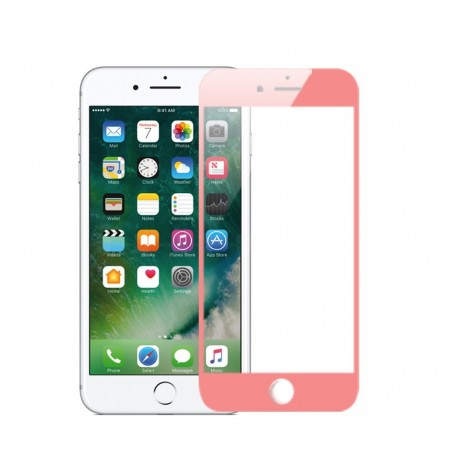 1 VERRE TREMPE iphone 6, 6s et 7 Rose