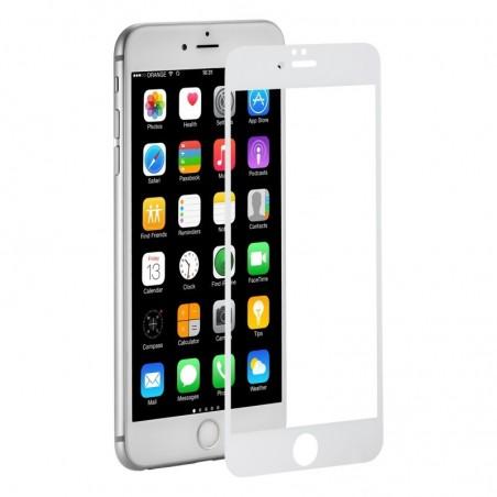 1 Verre Trempé iPhone 6 Plus Blanc Intégral 2.5D