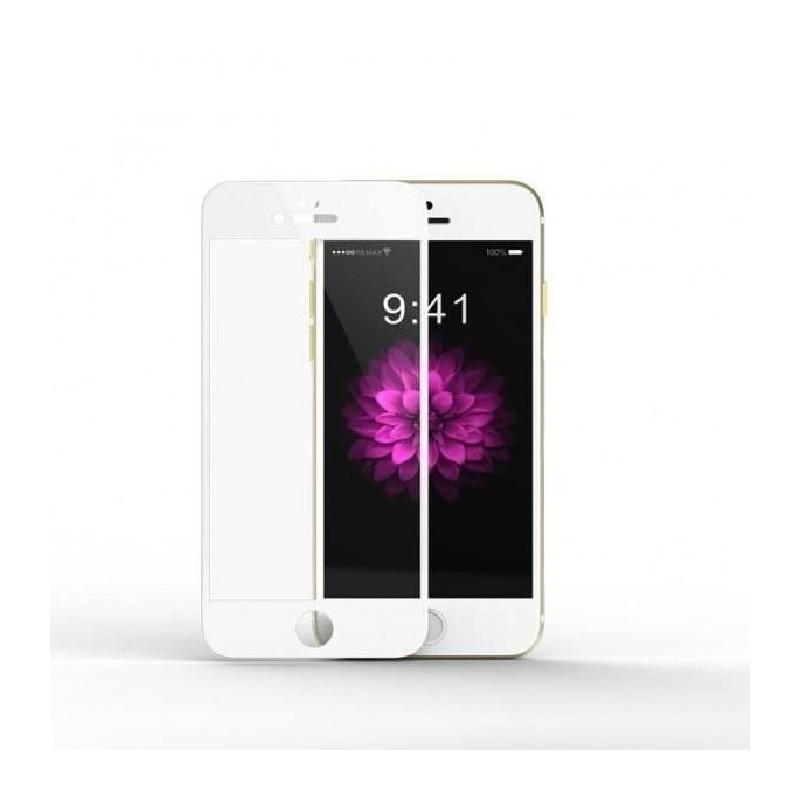 1 Verre Trempé iPhone 6 Plus et 6s Plus Blanc 4D