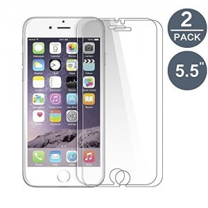 2 Verres Trempé iPhone 7 Plus Transparent