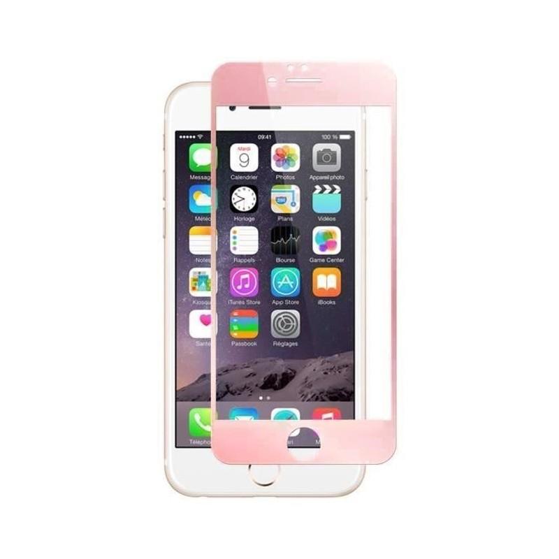 1 Verre Trempé iPhone 6 et 6s Rose 4D