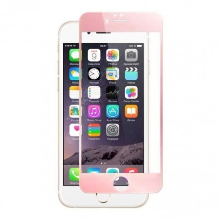 1 Verre Trempé iPhone 6 et 6s Rose 4D