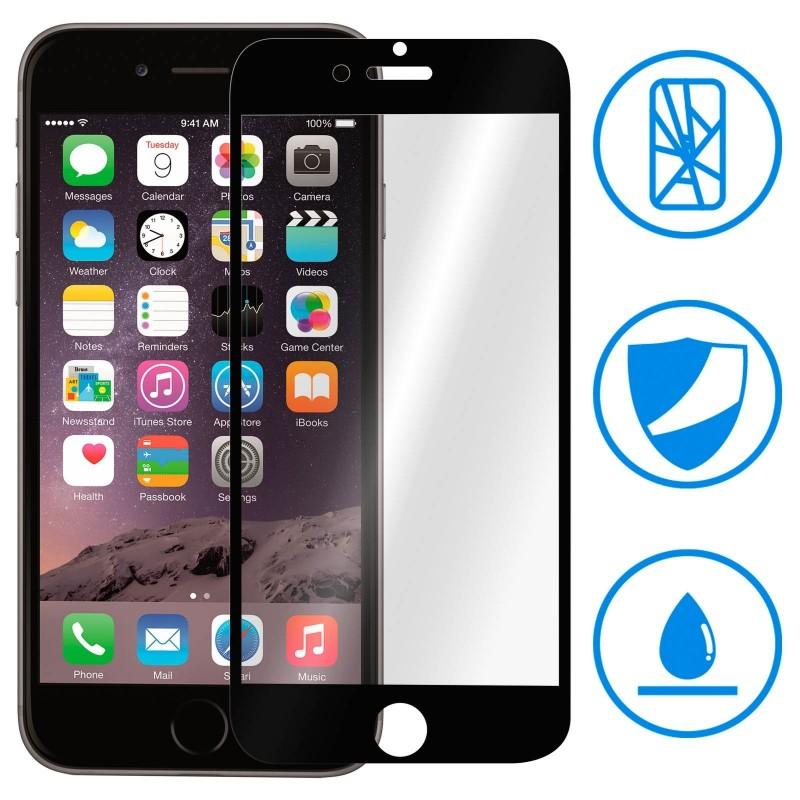 1 Verre Trempé iPhone 6 Plus et 6s Plus Noir Intégrale