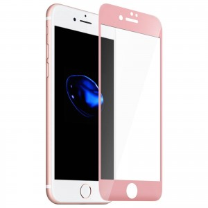 1 Verre Trempé iPhone 7 Plus Rose 4D