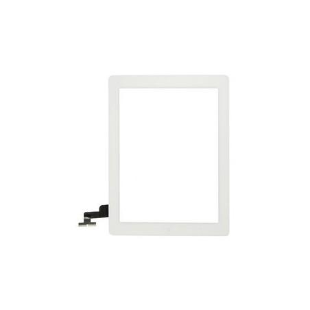 Vitre Tactile pour iPad 2 Blanc Pré Assemblée