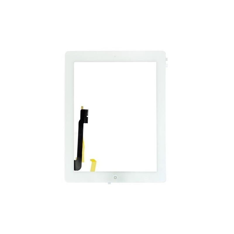 Vitre Tactile pour iPad 4 Blanc Pré Assemblée