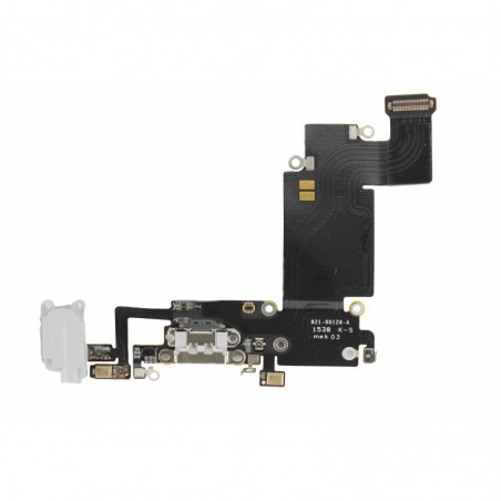 Nappe jack écouteur + connecteur de charge iPhone 6s Plus Blanc