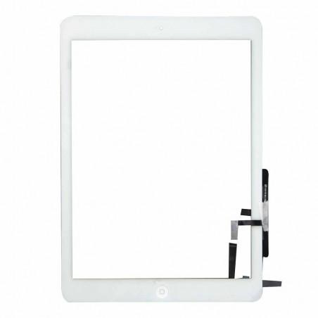 Vitre Tactile pour iPad Air Blanc Pré Assemblée
