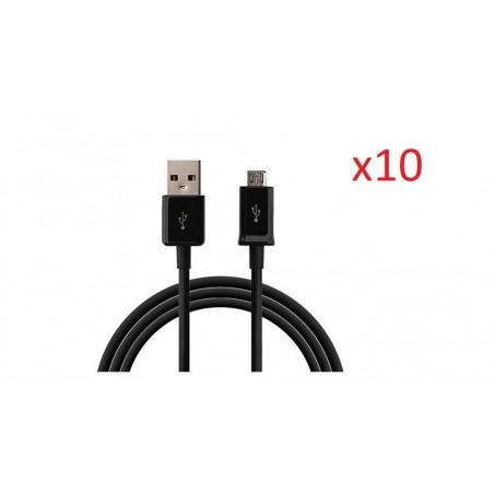 10 Cables Micro Usb Noir