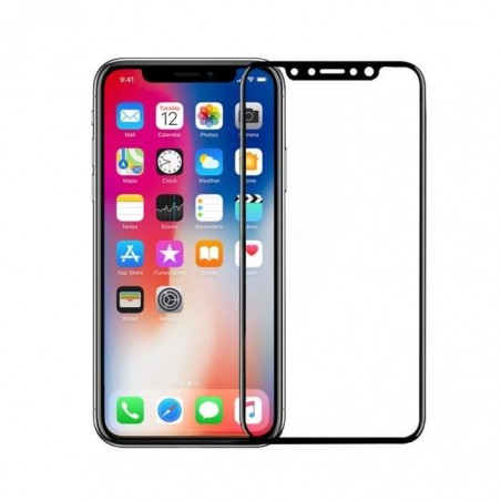 1 Verre Trempé iPhone X 5D Noir