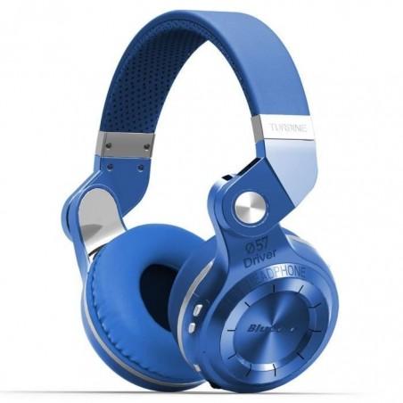 Casque Bluetooth Bluedio T2S stéréo sans fil écouteur microphone intégré Bleu